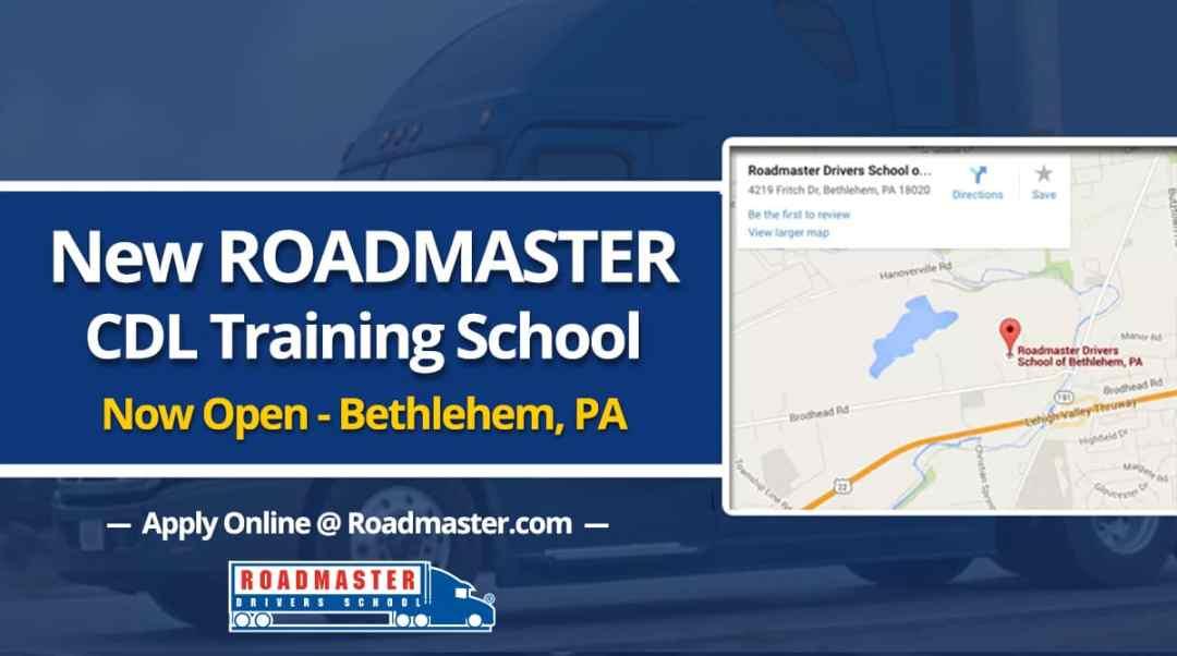 Roadmaster CDL Training School In Bethlehem, PA