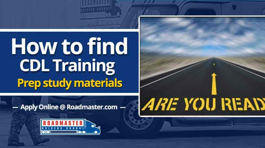 How To Find CDL Training Prep Study Materials