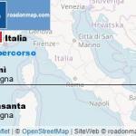 Percorso e indicazioni stradali da Bidonì Oristano, Sardegna a Abbasanta Oristano, Sardegna