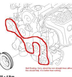 mitsubishi lancer engine belt diagram [ 1034 x 809 Pixel ]