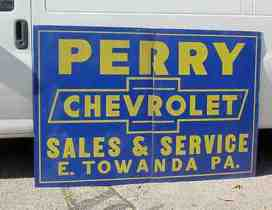 Old Gas & Oil Signs .. Perry Chevrolet....