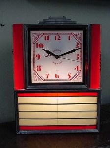 1940's Art Deco diner clock, Vintage Advertising Neon Clocks