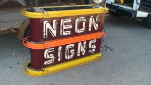 Old Porcelain neon signs