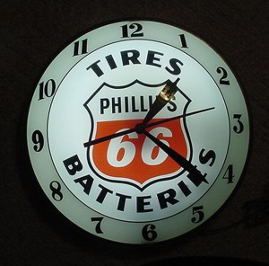 Vintage Advertising signs 1800's//2000's....old clock for Phillips 66 tires batteries, Vintage Oil Gas signs, Pumps, Globes, Vintage Oil Gas signs, Pumps, Globes..
