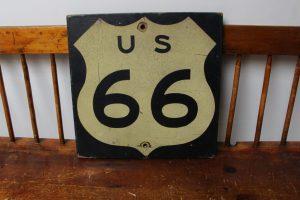 Vintage Route 66 reflective not porcelain sign, Old Unique Advertising Signs , Vintage advertising signs