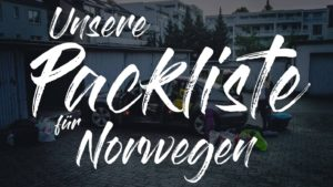 Norwegen Packliste