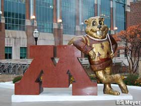 Minneapolis MN  Statue of Goldy Gopher