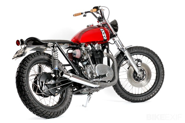 yamaha xs650 bobber wiring diagram how to wire up spotlights xs 650 review and photos custom red