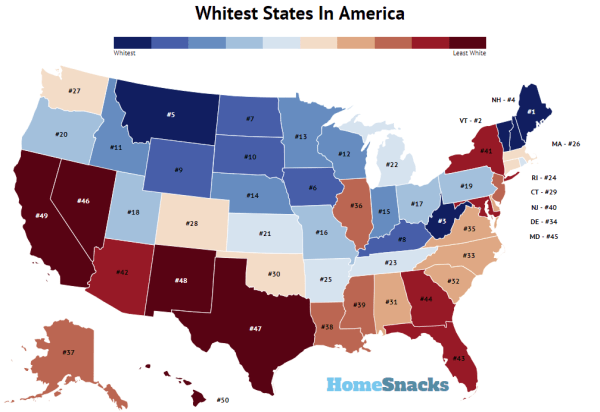 These Are The 10 Whitest States In America For 2019