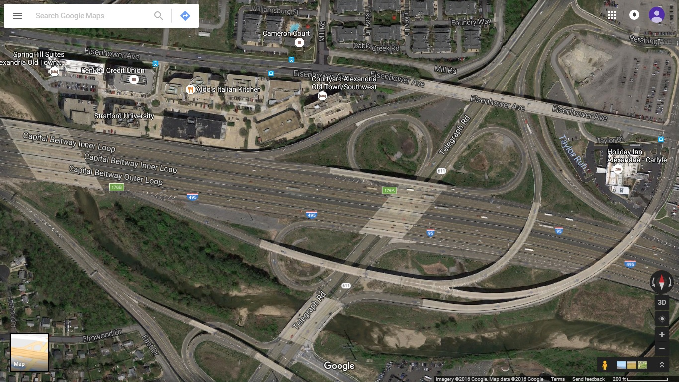 hight resolution of aerial photo of completed va 241 interchange extracted in november 2016 taken by google maps