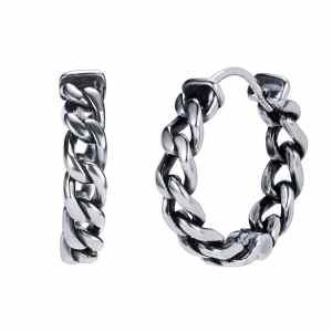 Boucles d'oreilles anneaux chaîne Roadstrap