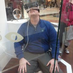 Swivel Chair Vr 50s Table And Chairs Samsung Is Demo'ing Gear At America's Largest Mall