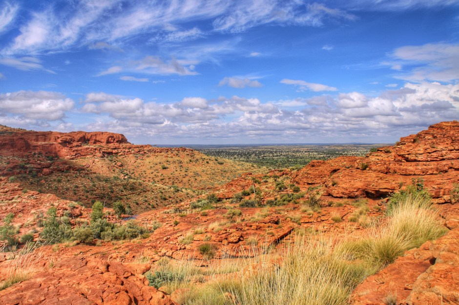 The view from the top of Kings Canyon