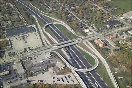 Image result for major highway with exit ramps
