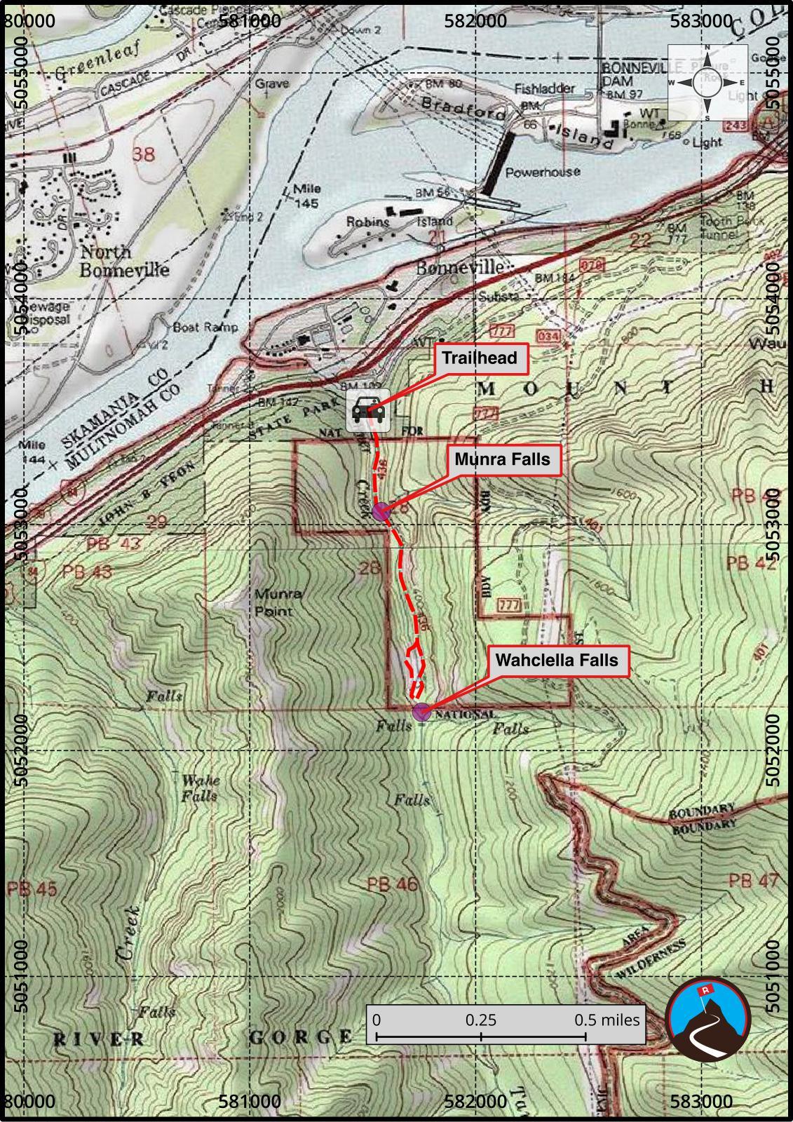 Hiking Wahclella Falls  Columbia River Gorge Oregon