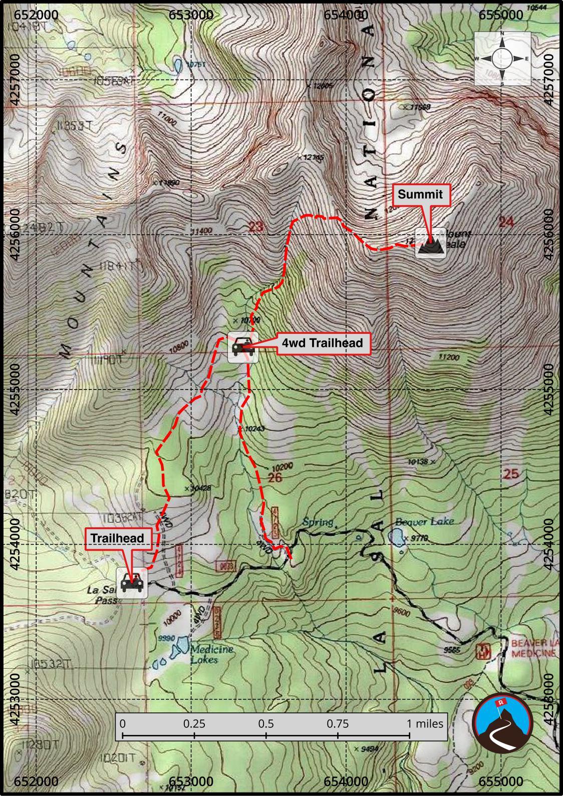 Hiking Mount Peale  San Juan County Highpoint  Road Trip Ryan