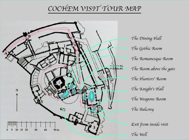 Cochem castle guided visit tour map