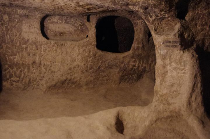 Kaymakli underground city - Cappadocia - Turkey-living room