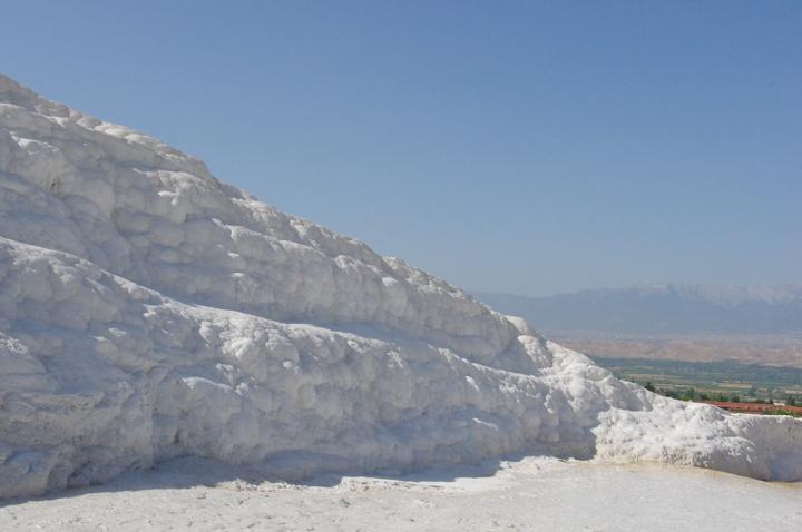 Pamukkale - Turkey-limestone wall