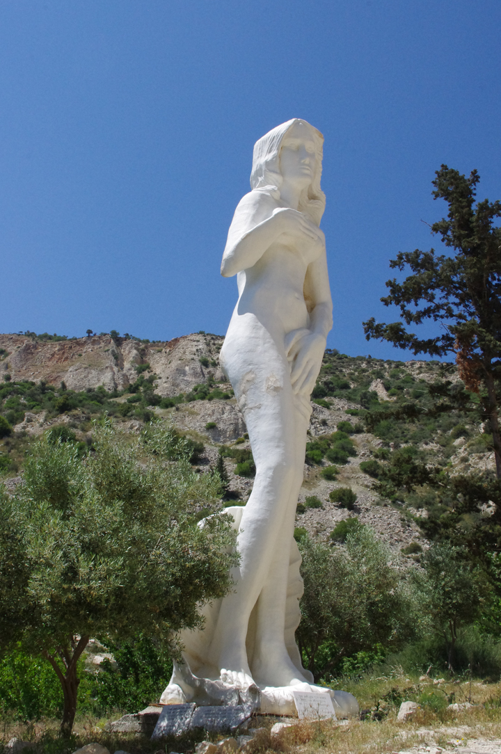 Adonis Baths - Cyprus - giant Aphrodite statue