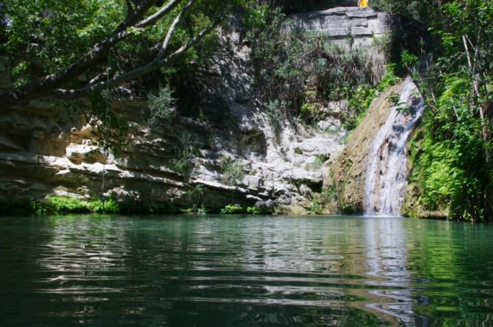 Adonis Baths - Cyprus main pool and waterfall 1