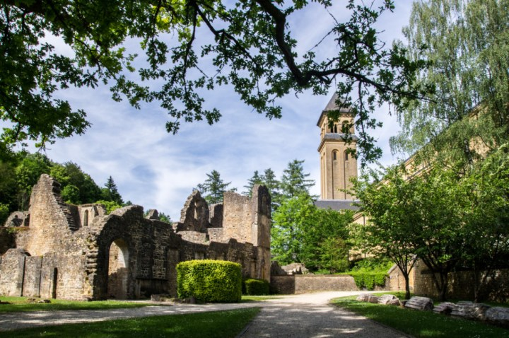ORVAL - Belgium - view of the ruins of medieval abbey