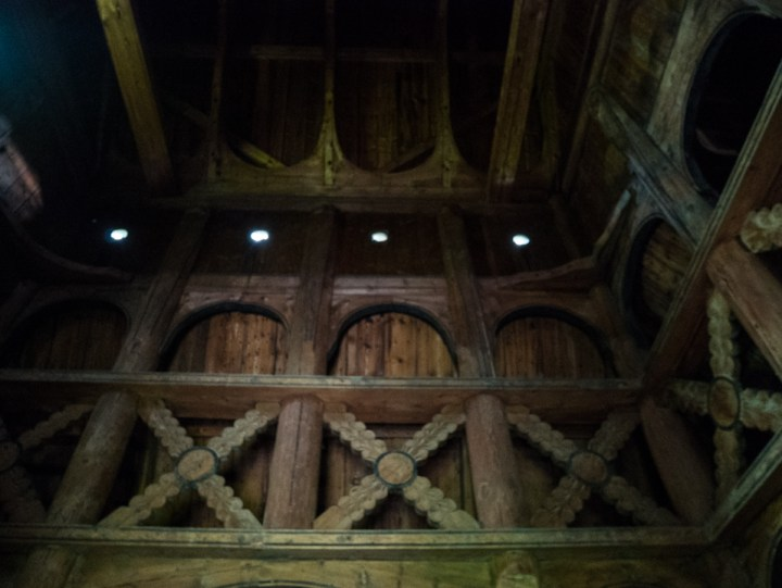 Borgund Stave Church - Norway - inside view ceiling