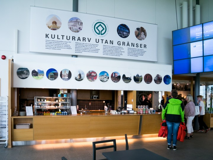 Grimeton Radio Station- Sweden- cafetaria in visitor center