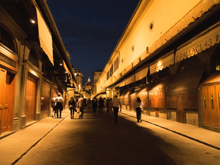 Florence - Firenze - Italy - Ponte Vecchio at night