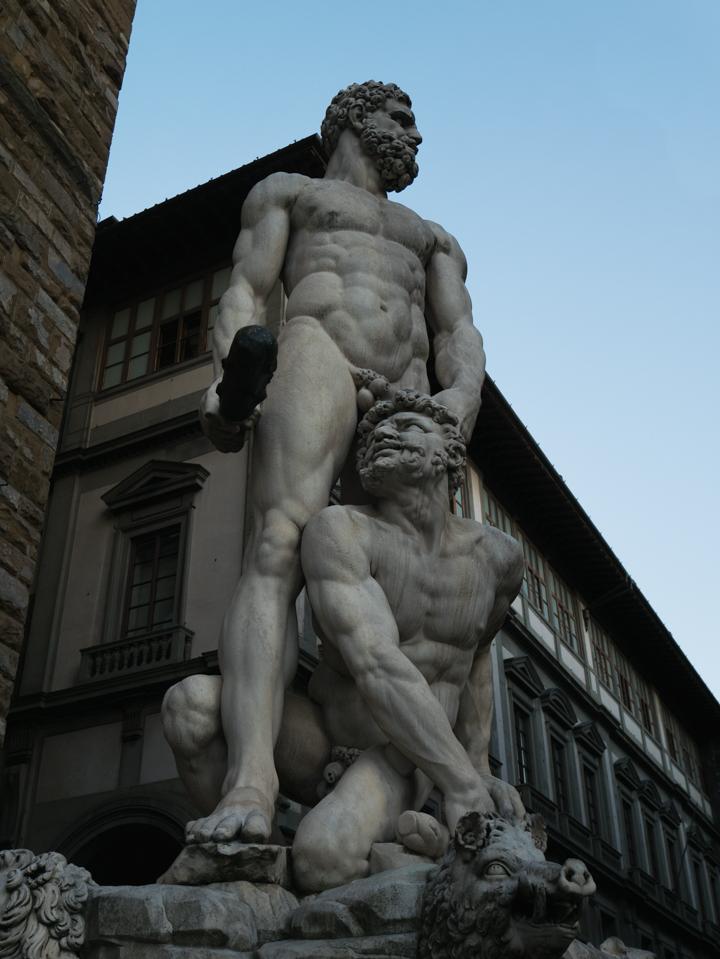 Florence - Firenze - Italy - piazza della Signoria - statue