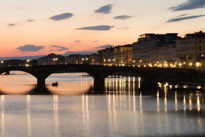 Florence - Firenze - Italy - view of Arno river
