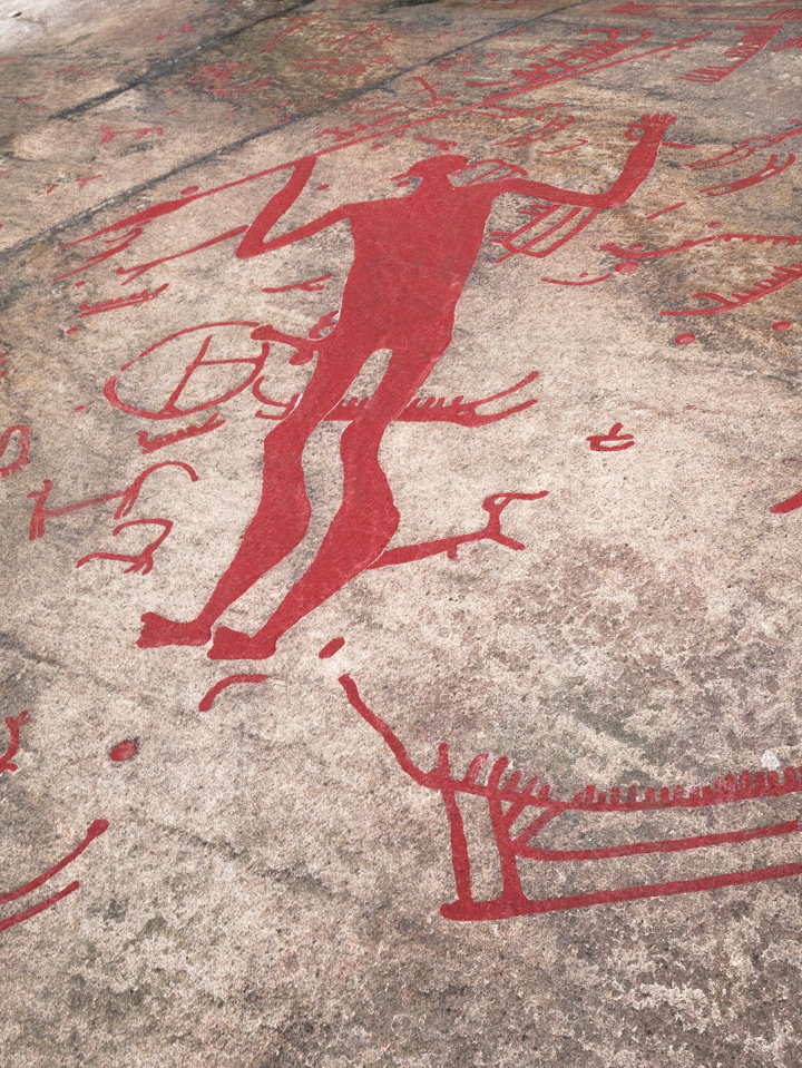 Tanum rock carvings - Sweden - Litsleby Spear God´s rock