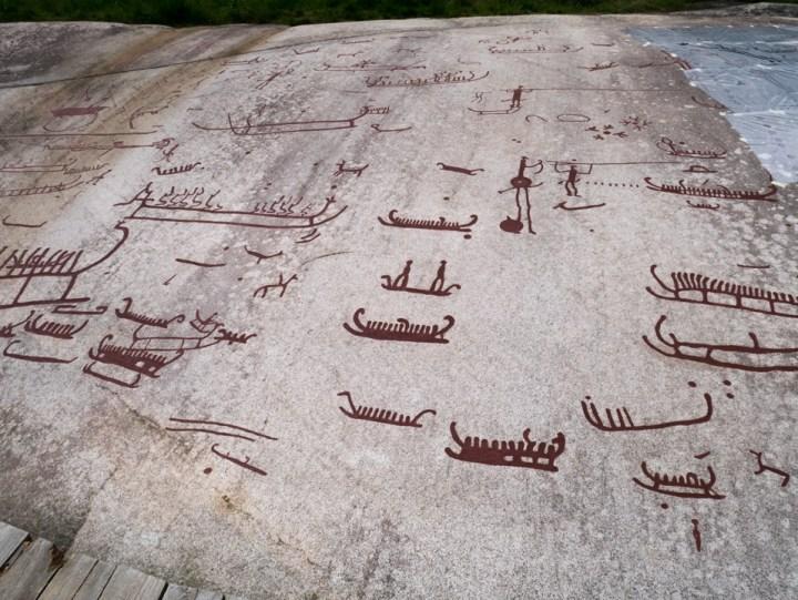 Tanum rock carvings - Sweden - close up 2 Vitlyckehällen