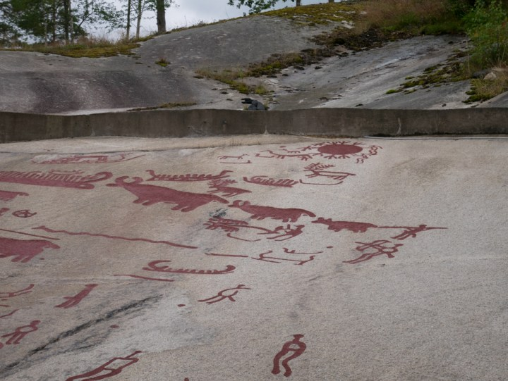 Tanum rock carvings - Sweden - details sacred Aspeberget