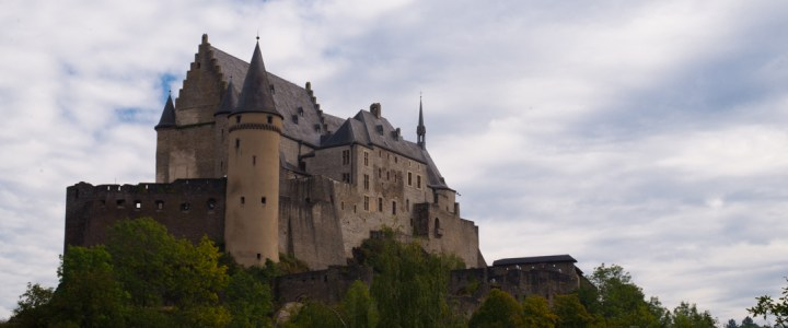 Visit of the Medieval Castle of Vianden in Luxembourg