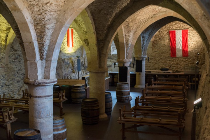 Vianden Castle - Luxembourg - wine cellar