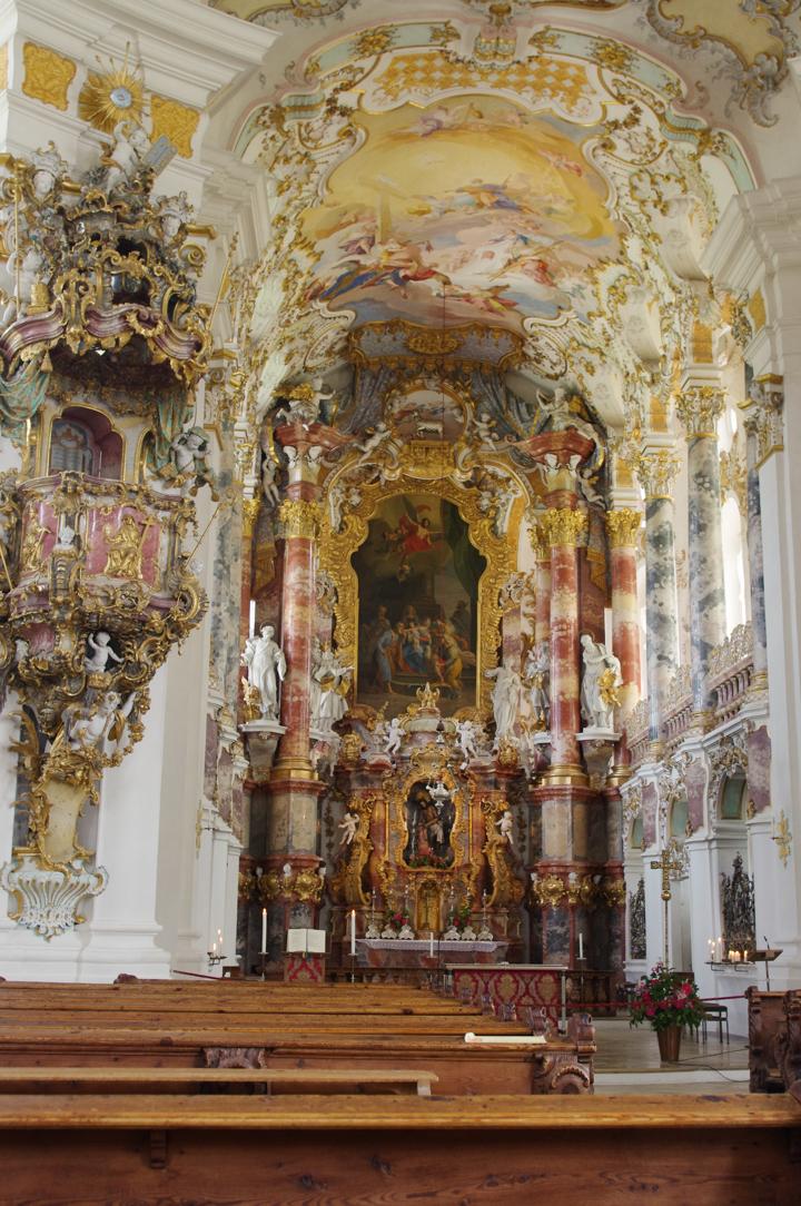 Wies Church - Wieskirche - Germany - Choir - altar - pulpit