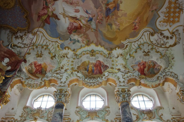 Wies Church - Wieskirche - Germany - Choir ceiling