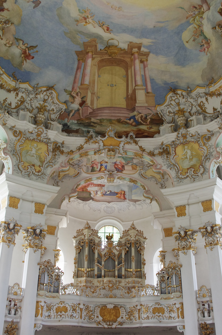 Wies Church - Wieskirche - Germany - organ and ceiling
