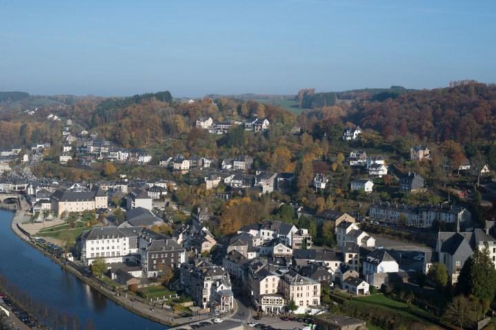 Bouillon Castle - Belgium - Godfrey of Bouillon - the town from la Ramonette