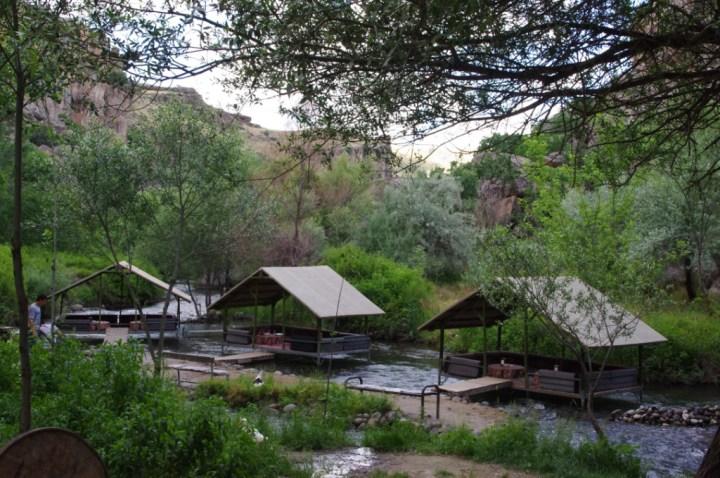 Ihlara Valley - Cappadocia - Turkey - restaurant - river