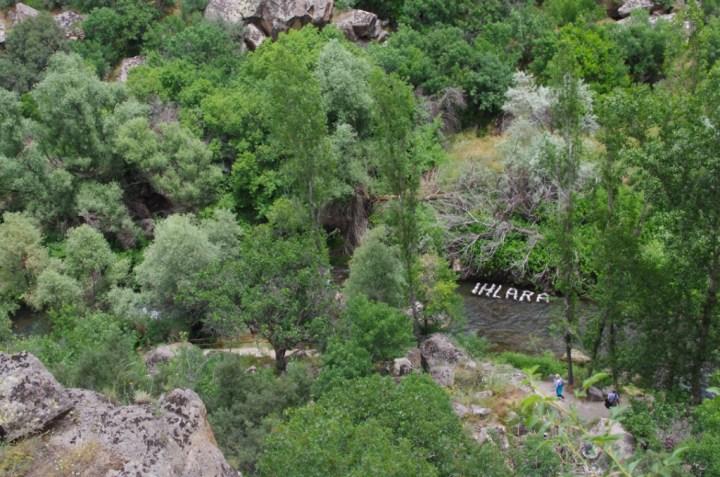 Ihlara Valley - Cappadocia - Turkey - sign in the river