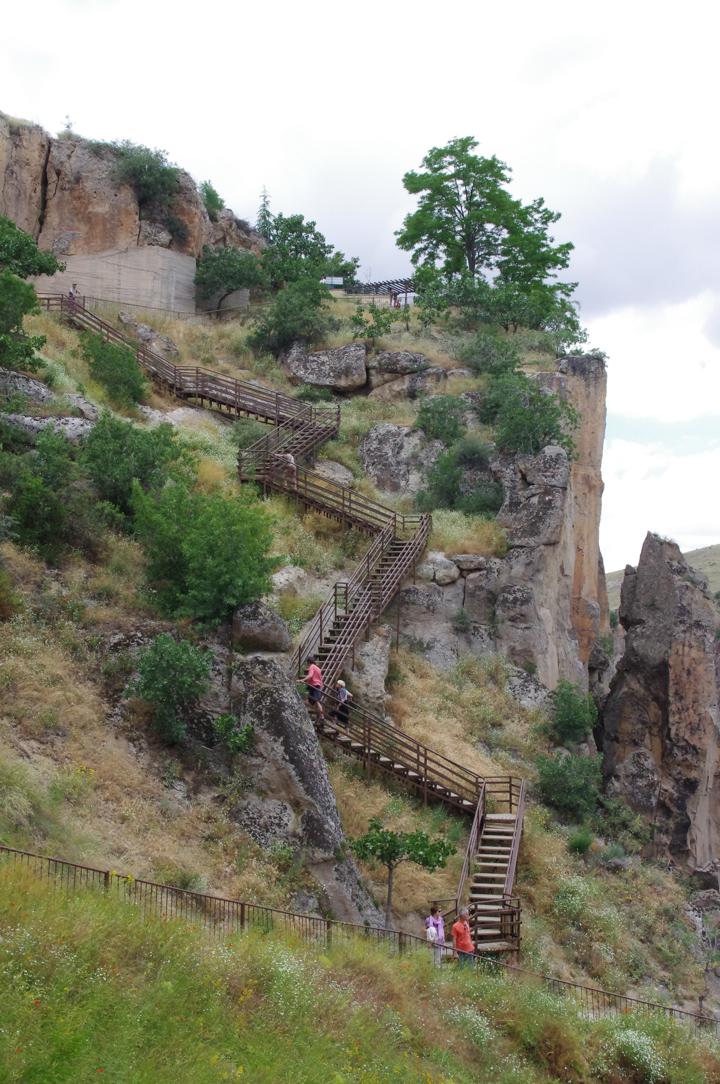 Ihlara Valley - Cappadocia - Turkey - the staircase