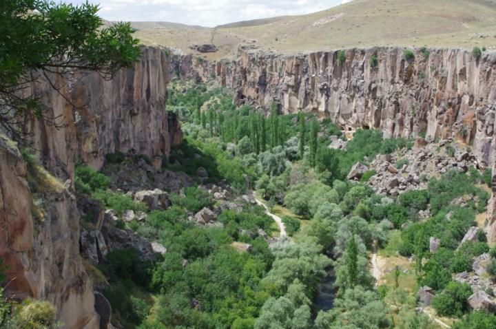 Ihlara Valley - Cappadocia - Turkey - view from above