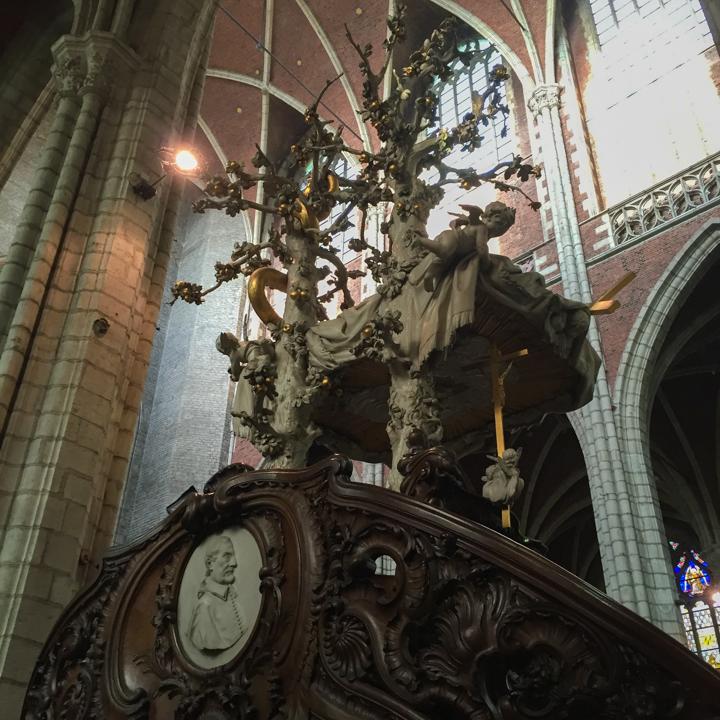Saint Bavo cathedral - Pulpit - Ghent - Belgium