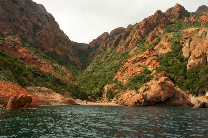 Scandola Nature Reserve in Corsica - beach
