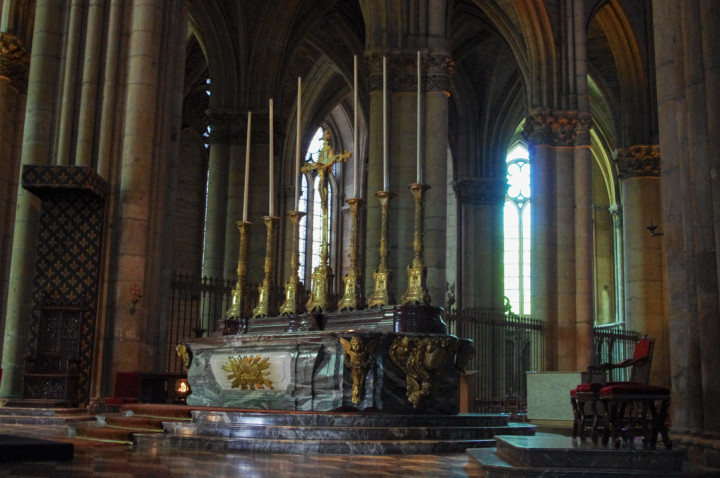Reims cathedral altar - France