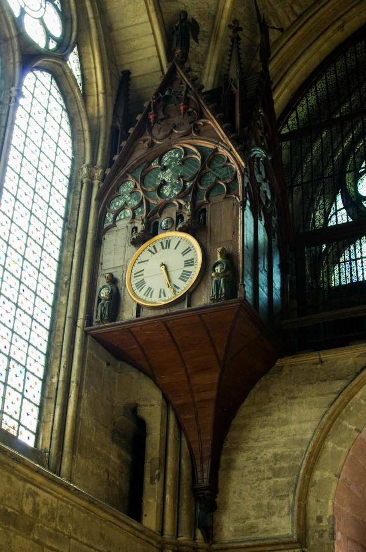 Reims cathedral the 15th century clock
