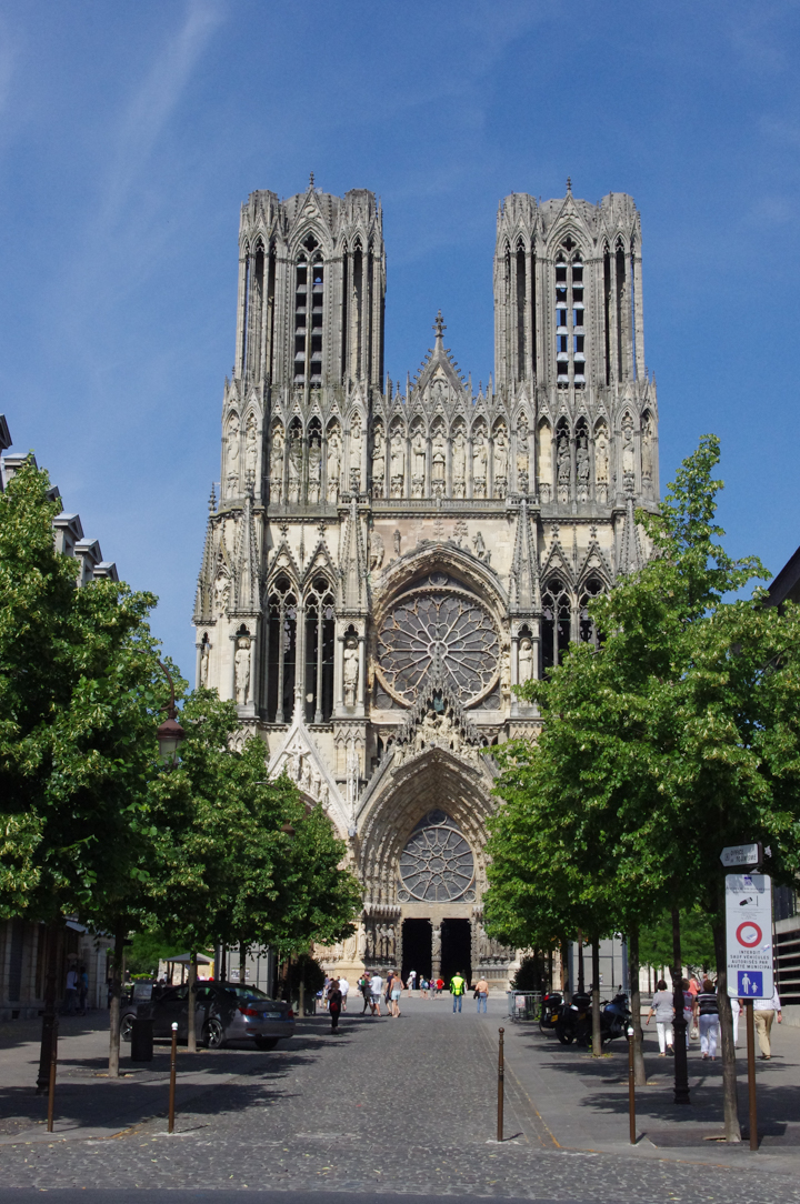 The Reims cathedral in France - a UNESCO World Heritage site