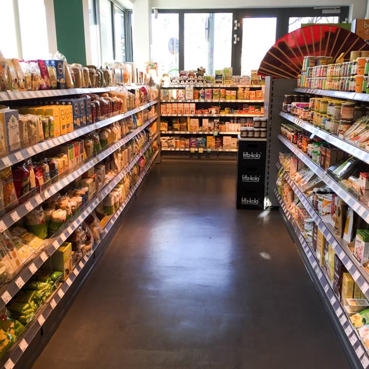 Inside Veganz grocery store - Schivelbeiner Straße or Vegan Avenue - Berlin